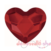Swarovski 2808 Heart, 6 mm Light Siam HF (1 шт)