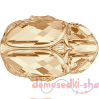 Swarovski Scarab bead 5728 12 мм Golden Shadow