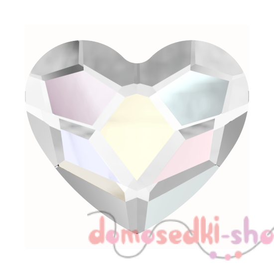 Swarovski 2808 Heart, 14 mm Crystal AB HF (1 шт) Размер -14 мм